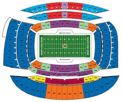 Chicago Bears Seating Chart Nfl Football Stadiums Chicago Bears Stadium Soldier Field