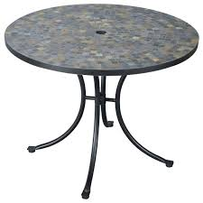 Outdoor Tile Table Top Stone Harbor Slate Tile Top Outdoor Table 224986 Patio