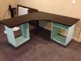 diy office furniture. L Shaped Desk Glass Brubaker Ideas. Small Diy Home Office Furniture