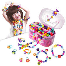 Amazon.com: Pop Beads, Jewelry Making Kit - Arts and Crafts for Girls Age 3, 4, 5, 6, 7 Year Old Kids Toys Hairband Necklace Bracelet Ring Creativity