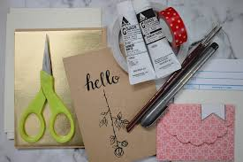 pick up a pack of blank cards from your local craft supply and gather any supplies you have around you and you re ready to get started