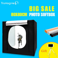 80 80 80cm portable led photo studio lightbox softbox light tent shooting softbox photography