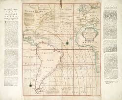 Magnetic Chart Paper Magnetic Chart Of The Atlantic 1740s Stock Image C023