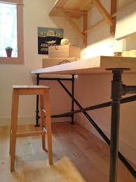 industrial pipe leg desk