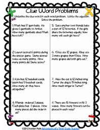 Math Clue Words Activities Freebie