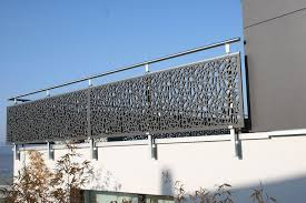 Kitchen Balcony Grill Design Outdoor Railing In Wood With Panels For Balcony Single