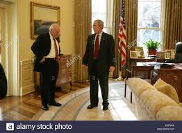 bush oval office. President Bush And Vice Cheney In The Oval Office