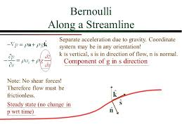 bernoulli equation fluid mechanics. elementary fluid dynamics: the bernoulli equation. 2 along a streamline equation mechanics g