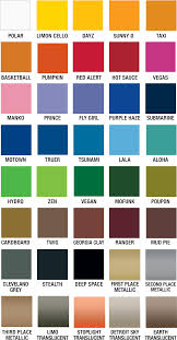 Samurai Spray Paint Colour Chart 67 Exact Rustoleum Spray Paint Chart