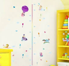 Pony Height Chart Details About My Little Pony Height Chart Wall Sticker Removable Vinyl Decal Kids Decor Mural