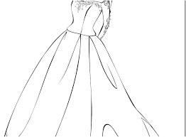 Wedding Dress Coloring Pages Dresses Color P Auchmar