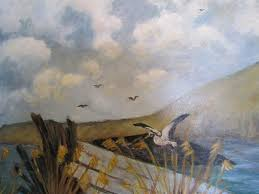 Woodstork Painting by JoAnn Albright
