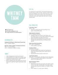Resume Whitney Tam Copywriter Best Copywriter Resume