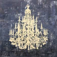 metal chandelier wall art intended for well known art in style gold chandelier hand