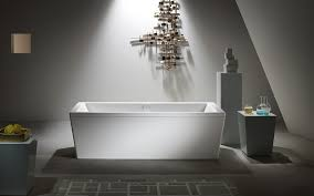 0 enameled steel bath bathtub in bathroom interior