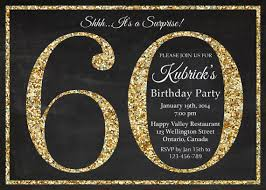 60 birthday invitations 60th birthday invitation gold glitter birthday party invite