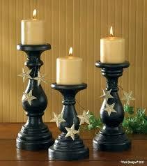 tall wooden candlesticks candle pillars pillar holders candlestick unfinished black wood