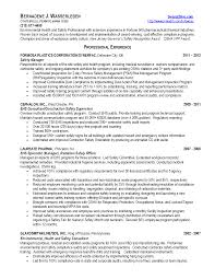 Occupational Health and Safety Specialist Sample Resume