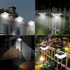 Solar Powered PIR Motion Sensor <b>LED</b> Floodlight Wall <b>Gutter</b> Light ...