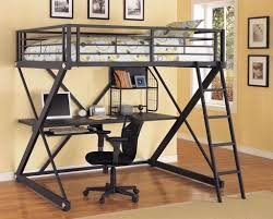 bunk bed with storage under for the kids homework and sleep under