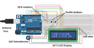 digital arduino clock circuit diagram
