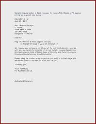 Letter Of Application Bank New Request Letter Format Sample