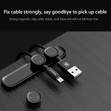 Baseus Peas Magnetic Cable Clip USB Cable Organizer Clamp Desktop  Workstation Charging Wire Cord Management Cable Winder Holder-in Cable  Winder from ...