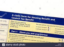 Housing Benefit Form Claim Form For Housing And Council Tax Benefit Stock Photo Royalty 10