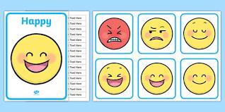 Emoji Feelings Chart Printable Emotions Class Chart Display Pack