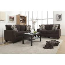 serta rta san paolo mink brown espresso polyester sofa cr43535pb the home depot