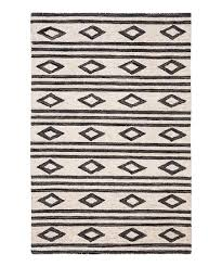 ivory charcoal geometric vida wool rug