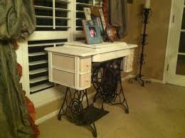 Treadle Sewing Machine Cabinet Singer Sewing Machine Cabinet Makeover To Hall Table Metal