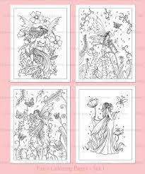 Small Picture PRINTABLE Flower Fairies Coloring Pages Set 1 4 Flower