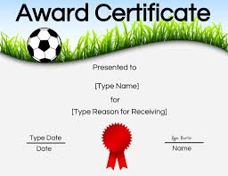 Free Soccer Certificate Templates Free Soccer Certificate Maker Edit Online And Print At
