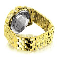 luxurman watches mens real diamond watch 1 25ct yellow gold plated luxurman watches mens real diamond watch 1 25ct yellow gold plated back