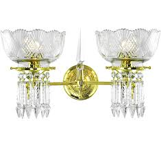 double 2 light antique reion wall fixtures lights