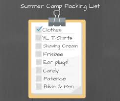 Young Life Summer Camp Packing List — Young Life Access