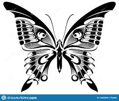 Silhouette Art Designs Butterfly Black White Silhouette Design Stock Illustration