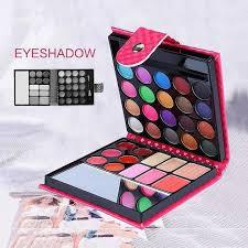 women pro 32 colors shimmer matte small makeup eyeshadow palette fashion face eye lips make up