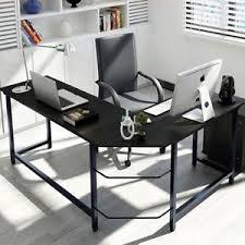 office corner desk. Image Is Loading L-Shaped-Home-Office-Corner-Desk-Study-Laptop- Office Corner Desk