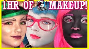 1 hour of monster high doll makeup tu
