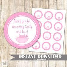 Baby registry, baby shower, baby shower. Ballerina Gift Favor Label Sticker Tag Baby Shower Birthday Pink Tutu Pink The Cat