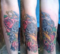 ворон на руке татуировки татушка