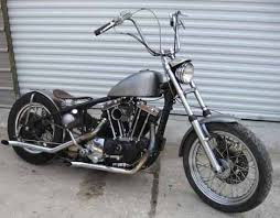 1974 harley xlch ironhead sportster bobber with weld on hardtail