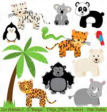 zoo animals clipart. Interesting Zoo Zoo Jungle Animals Clipart U0026 Vectors With