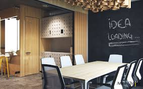 loft office design. Kiev. 25 Floor High-rise Buildings Near The Park Nivki And American Embassy. It Was Designed For Creative Team. Office Uses Natural Materials, Loft Design