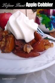 leftover biscuit apple cobbler