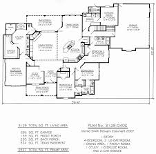 5 Bedroom Floor Plans One Story Awesome One Story Four Bedroom House Plans
