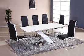 Esstisch Set Bambari A27 Inkl 6 Stühle Schwarz Weiß 180 X 100
