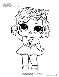 Leading Baby From Lol Surprise Doll Coloring Pages Free Printable